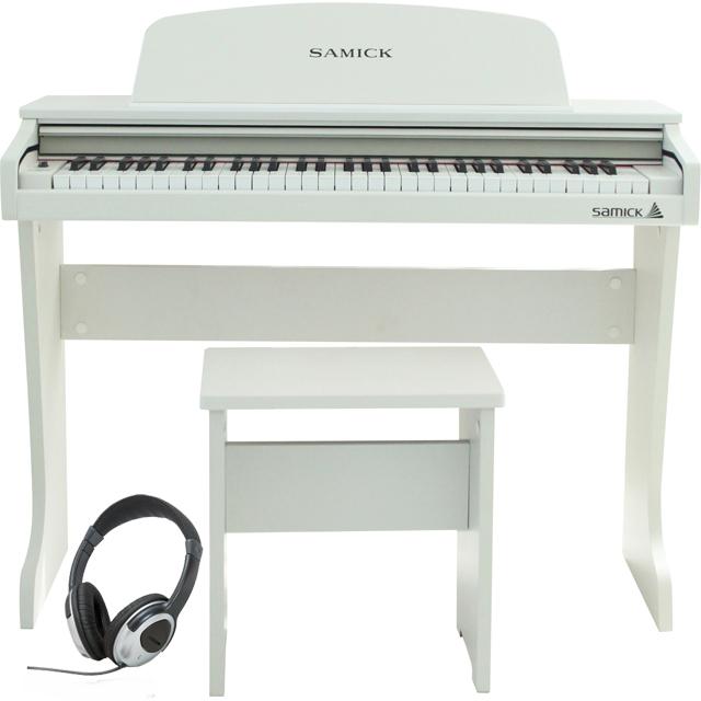 Samick ( サミック ) 61 KID-O2 / White 【ヘッドフォンサービス】【ホワイトカラー】《子供向けミニデジタルピアノ》 【送料無料】