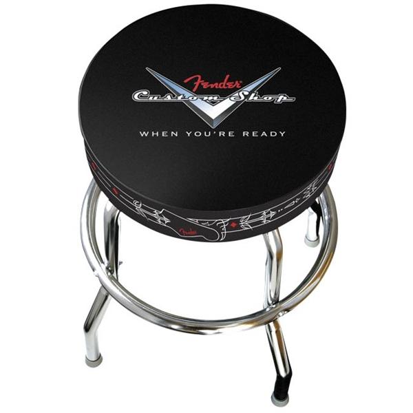 Fender フェンダー 【No.0990230010】FENDER CUSTOM SHOP PINSTRIPE BARSTOOLS 【バーストール】【椅子】【座面高30インチ】【カスタムショップロゴ】【お取り寄せ品】
