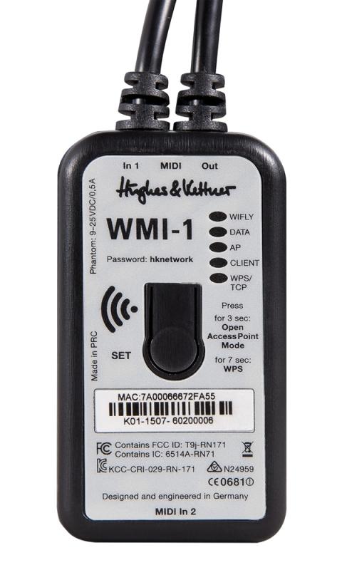 Hughes&Kettner(ヒュース&ケトナー)WMI-1 Wireless MIDI Interface【HUK-WMI/1】【GrandMeister36用ワイアレスMIDIインターフェイス】【送料無料】