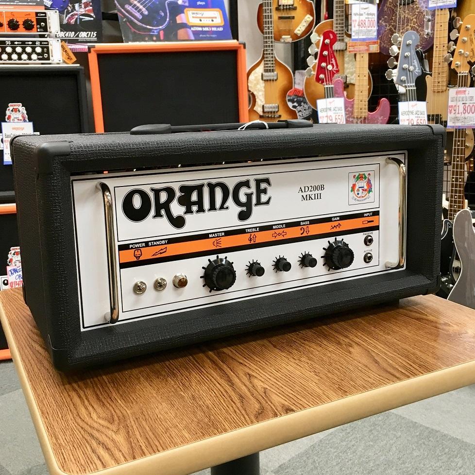 Orange オレンジ AD200B MK3 BLK【真空管・チューブ】【ベース用】【アンプヘッド】【送料無料】【店頭展示品】