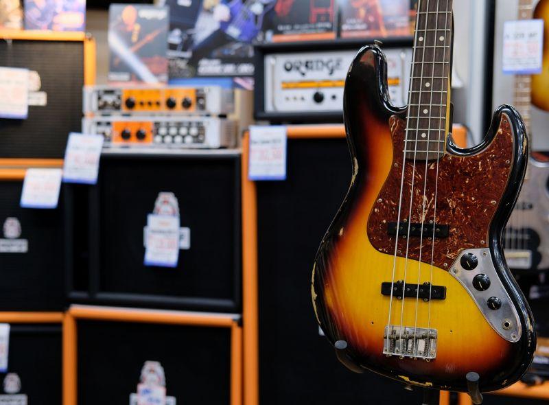 Fender USA Custom Shop 1964 Jazz Bass ® Relic 3CSB 【S/N、R88036】【フェンダー】【ジャズベース】【カスタムショップ】【レリック】【送料無料】