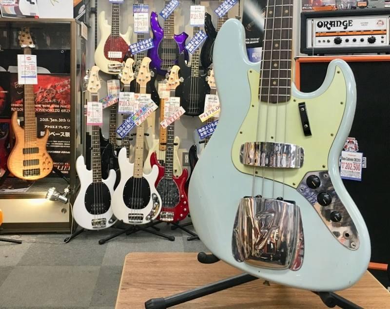Fender Custom Shop 1962 Jazz Bass Journeyman Relic -Sonic Blue-【S,N R93349】【フェンダーカスタムショップ】【ジャズベース】【ジャーニーマンレリック】【ソニックブルー】
