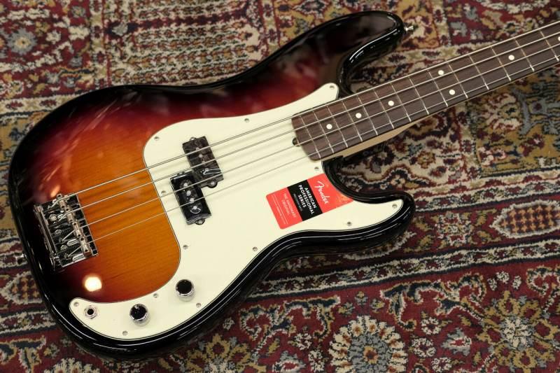 Fender USA AMERICAN PROFESSIONAL PRECISION BASS RW 3-Color Sunburst 【S/N,US18081539】【3,87Kg】【フェンダー】【アメリカンプロフェッショナル】【プレシジョンベース】【プレベ】