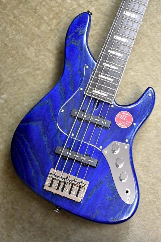 Bacchus WL524DX-ASH BLU/OIL-MH【S/N,C08994】【バッカス】【ウッドライン】【ジャズベース】【5弦】【ブルー・青】【オイルフィニッシュ】