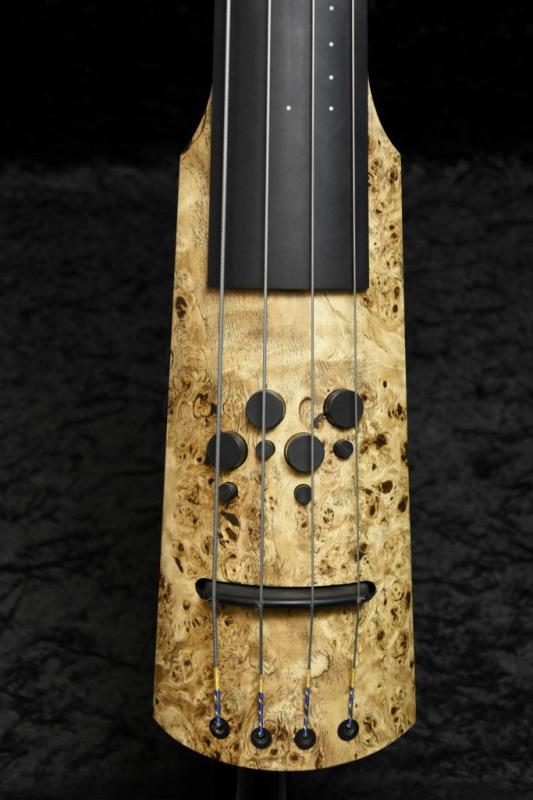 クールなポプラ・バールをトップにあしらった、限定版エレクトリックアップライトベース! NS Design CR4M D.Bass -Poplar Burl Top-【NEW】【NSデザイン】【エレクトリックアップライトベース】