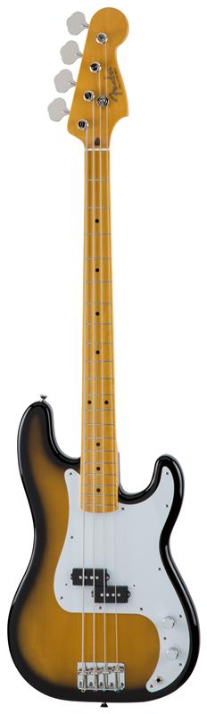 Fender フェンダー MADE IN JAPAN TRADITIONAL 50S PRECISION BASS® Maple Fingerboard, 2-Color Sunburst 【国産・日本製】【プレシジョンベース】【送料無料】