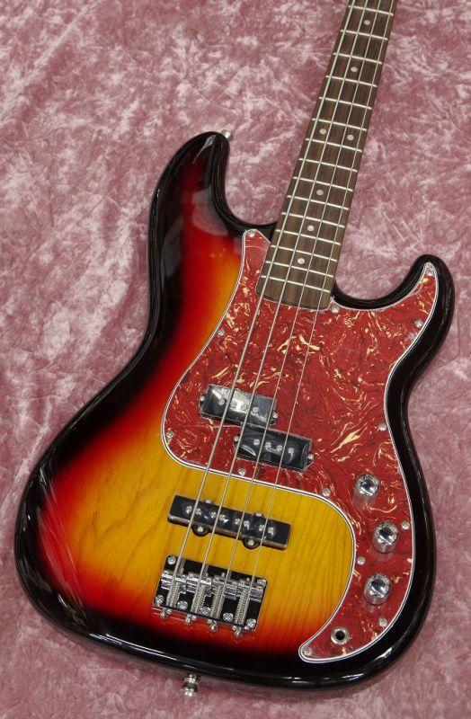 G.I.G. PJ-Bass 3TS/R【サンバースト】【プレシジョンベース】【ソフトケース付属】【エレキベース】【初心者向け】【入門エレキベース】【送料無料】
