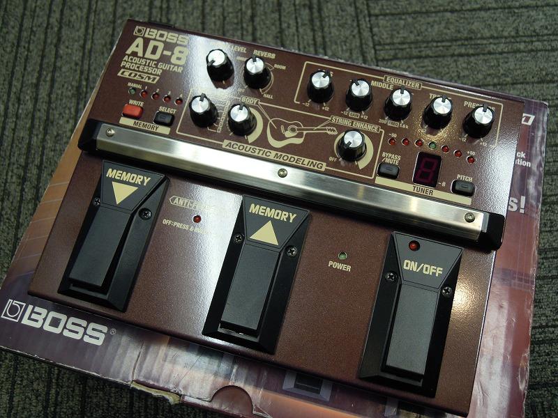 BOSSAD-8 Acoustic Guitar Processor【箱ボロ特価】【アウトレット】【ボス】【アコースティック用】【アコギ・エフェクター】【送料無料】