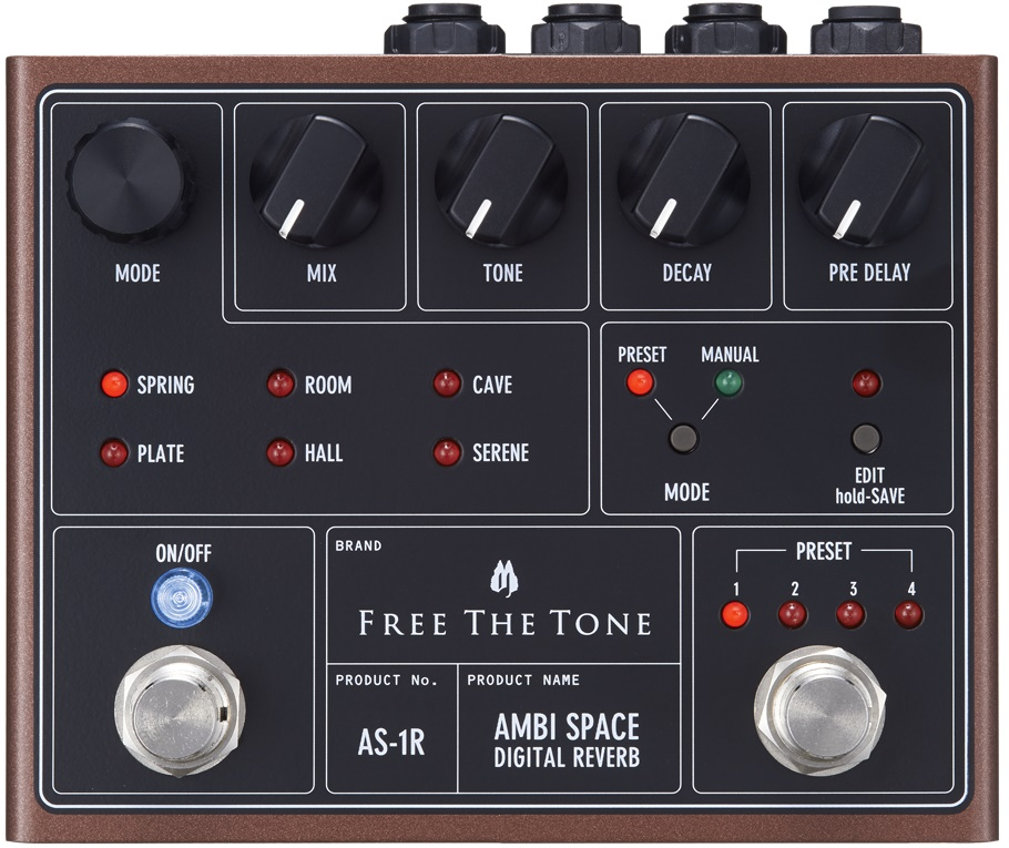 Free The ToneAMBI SPACE AS-1R【フリーザトーン】【アンビスペース】【デジタル・リバーブ】【送料無料】