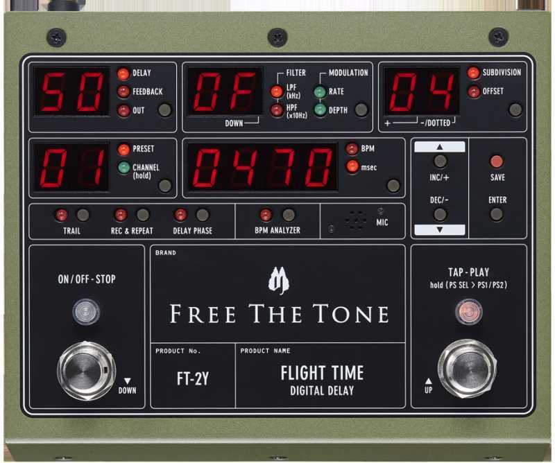 Free The ToneFLIGHT TIME FT-2Y【新品】【フリーザトーン】【フライトタイム】【デジタルディレイ】【送料無料】