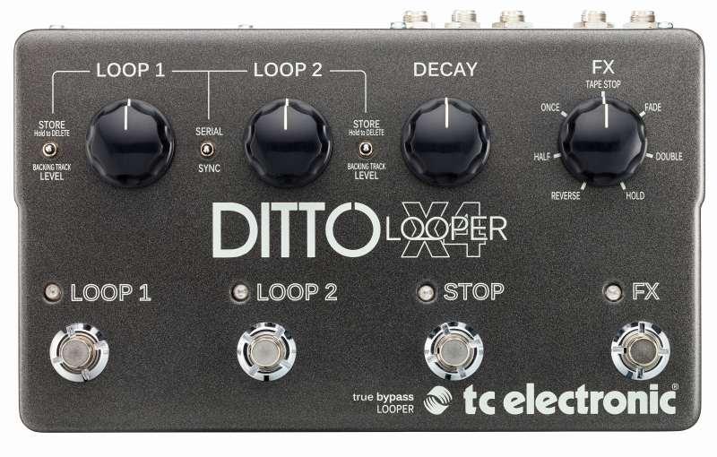 TC electronic Ditto X4 Looper【ディト・ルーパー】【デュアルトラック・ルーパー】【送料無料】