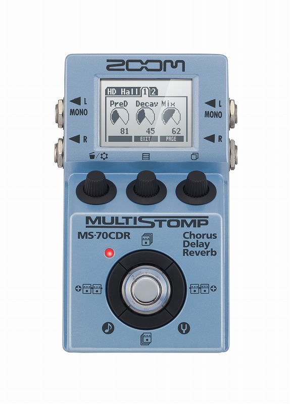 ZOOM ズームMS-70CDR【MultiStomp Chorus / Delay / Reverb Pedal】【マルチエフェクター】【マルチストンプ】【コーラス】【ディレイ】【リバーブ】【送料無料】
