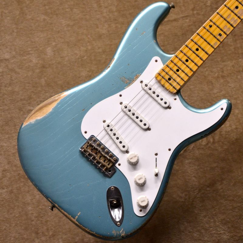 Fenderustom Shop 60th Anniversary 1954 Stratocaster Heavy Relic ~Teal Green Metallic~ #2216 【3.33kg】【コロナ工場現地選定品】【1ピースアッシュボディ】【フェンダー】【ヘヴィレリック】【ストラトキャスター】【送料無料】