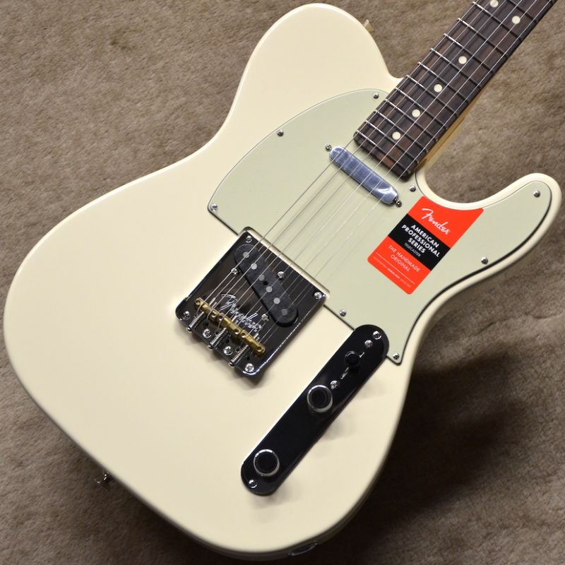 Fender USA American Professional Telecaster ~Olympic White / Rosewood Fingerboard~ #US16098807 【3.68kg】【フェンダー】【アメリカン・プロフェッショナル】【テレキャスター】