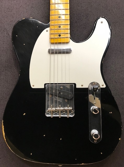 Fender USA Custom Shop Custom Built 1954 Telecaster Relic~Aged Black~【3.03kg】【CZ533341】【フェンダー】【テレキャスター】【カスタムショップ】