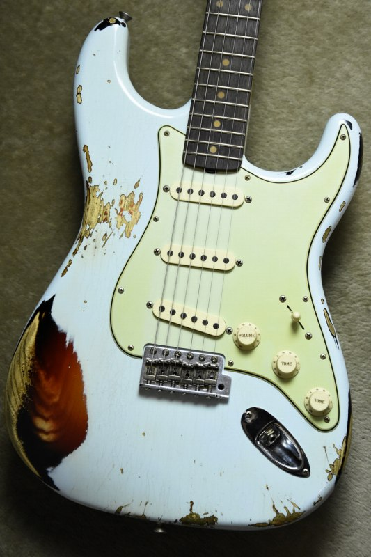 Fender Custom Shop LTD 1962 Stratocaster Heavy Relic Sonic Blue on 3 Tone Sunburst【Multilayer!!】【フェンダー】【ヘヴィレリック】【ストラトキャスター】【マルチレイヤー】【ソニックブルー】