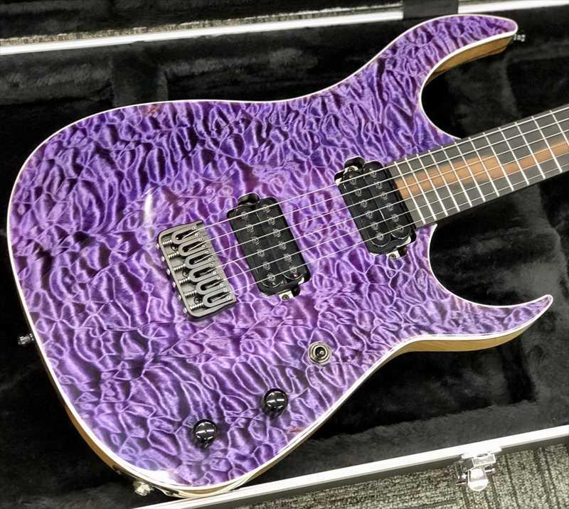 Overload Custom Guitars Raijin 6 Trans Purple【当店カスタムモデル】【極上杢目個体】モダンプレイヤー必見です!
