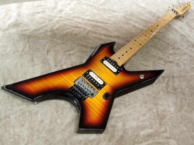 【即納可能!】Killer キラー KG-EXPLODER Flame Top【3 Tone Sunburst】【エレキギター】【変形】【メタル】【プライム・エクスプローダー】【フレイムトップ】【フロイドローズ】【送料無料】
