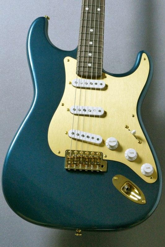 Moon ST-C Blue Turquoise/GOLD #57725【カスタムオーダー品!】【ムーン】【ストラト】