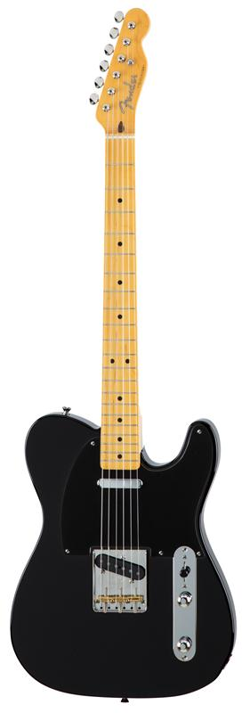 Fender フェンダー MADE IN JAPAN TRADITIONAL 50S TELECASTER® Maple Fingerboard, Black 【国産・日本製】【テレキャスター】【送料無料】