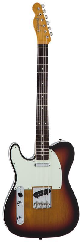 Fender フェンダー MADE IN JAPAN TRADITIONAL 60S TELECASTER® CUSTOM LEFT-HAND Rosewood Fingerboard, 3-Color Sunburst 【国産・日本製】【テレキャスター】【送料無料】