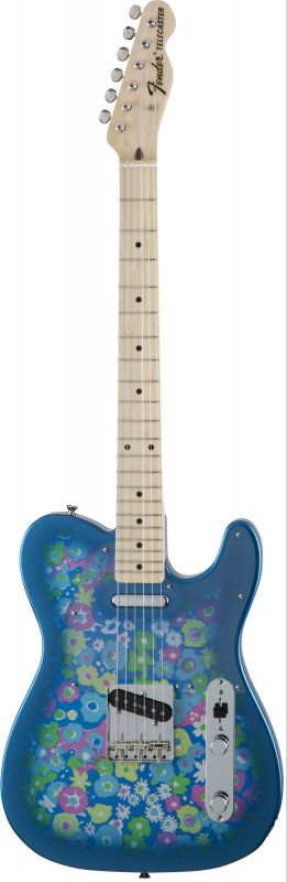 Fender フェンダー Made in Japan Traditional MIJ '69 Telecaster , Maple, Blue Flower [5350692350] (エレキギター/テレキャスター)(送料無料)【国産・日本製】【テレキャスター】【送料無料】