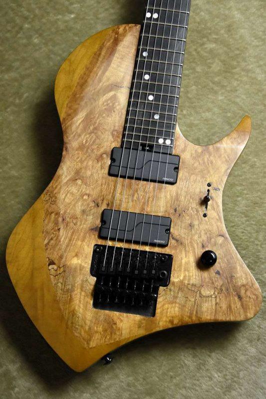 ABASI GUITARS Custom 7 Straight TR Burl Maple Satin Natural / Maple Finger Board【アバシギターズ】【7弦】【フロイドローズ】【トシン・アバシ】【アニマルズアズリーダーズ】