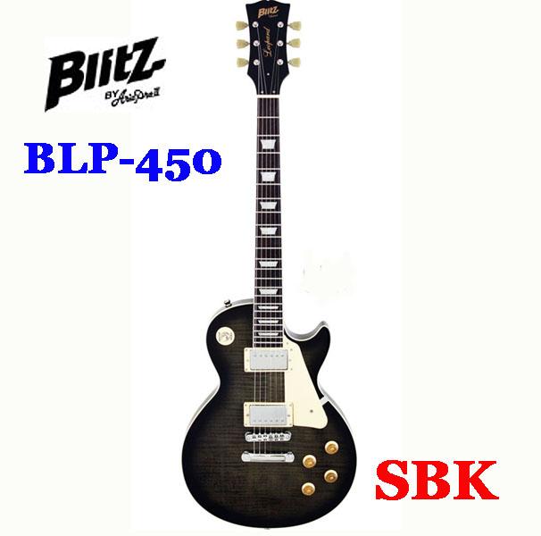 Blitz (by AriaPro II)BLP-450 SBK 【シースルーブラック】【ソフトケース、ケーブル付属】【エレキギター】【初心者向け】【入門エレキギター】