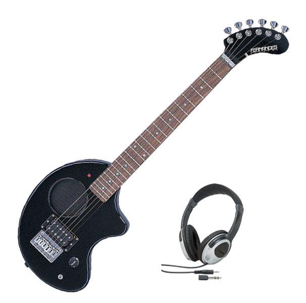 Fernandes フェルナンデス ZO-3 '11 W/SC BLACK【ブラックカラー】【ヘッドホンサービス】【次回入荷予約受付中】【アンプ内蔵ギター】【ZO-3シリーズ】【ソフト・ケース付】【送料無料】