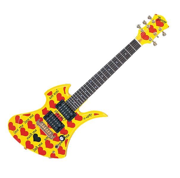 Burny (Fernandes) 【バーニー byフェルナンデス】 hide MODEL YH-JR. HY W/SC【イエローハート・ジュニア/Yellow Heart-Jr.】【アンプ内蔵ギター/アーティストモデル】【hideモデル】【ソフト・ケース付】【送料無料】