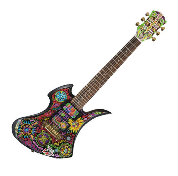 Burny (Fernandes) 【バーニー byフェルナンデス】 hide MODEL MG-Jr. W/SC【10月10日入荷予定】【MG・ジュニア/MG-Jr./ペイズリー】【アンプ内蔵ギター/アーティストモデル】【hideモデル】【ソフト・ケース付】【送料無料】
