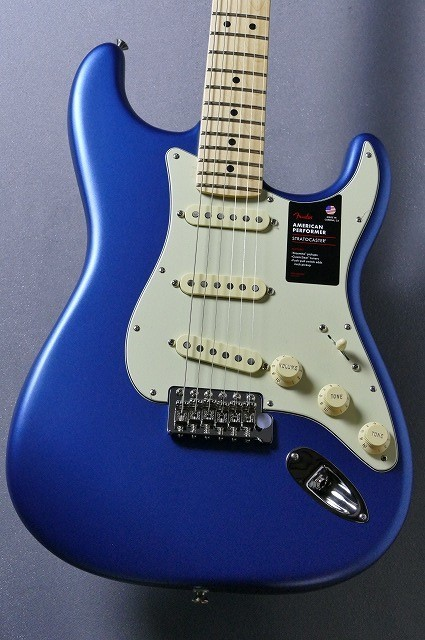 Fender American Performer Stratocaster - Satin Lake Placid Blue / MN- [#US18094610][3.51kg]
