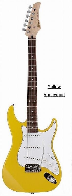 Greco グレコ WS-STD (Yellow / Rosewood) 【国産・日本製】【ストラトキャスター】【送料無料】
