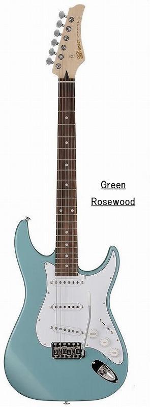 Greco グレコ WS-STD (Green / Rosewood) 【国産・日本製】【ストラトキャスター】【送料無料】
