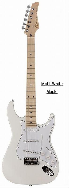 Greco グレコ WS-STD (Matt White / Maple) 【国産・日本製】【ストラトキャスター】【送料無料】