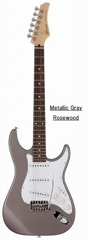 Greco グレコ WS-STD (Metallic Gray / Rosewood) 【国産・日本製】【ストラトキャスター】【送料無料】