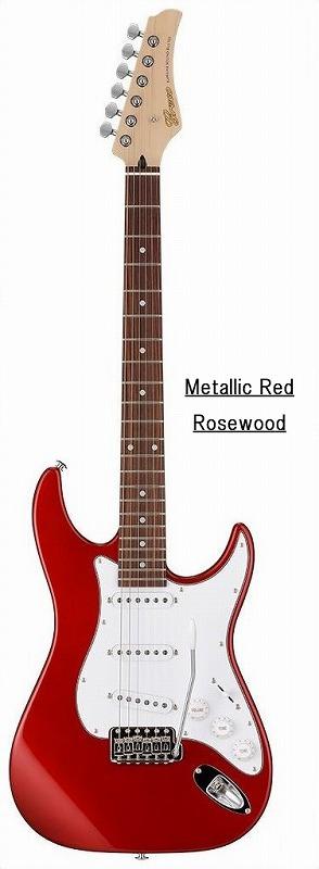 Greco グレコ WS-STD (Metallic Red / Rosewood) 【国産・日本製】【ストラトキャスター】【送料無料】