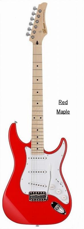 Greco グレコ WS-STD (Red / Maple) 【国産・日本製】【ストラトキャスター】【送料無料】
