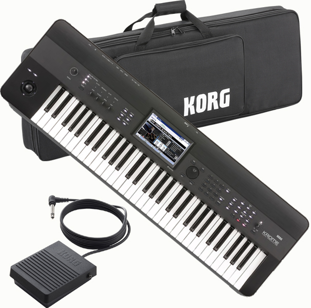 KORG KROME 61key 【KROME-61】【純正ソフトケース/ペダルセット】【ケースのみ入荷次第後日発送】【送料無料】