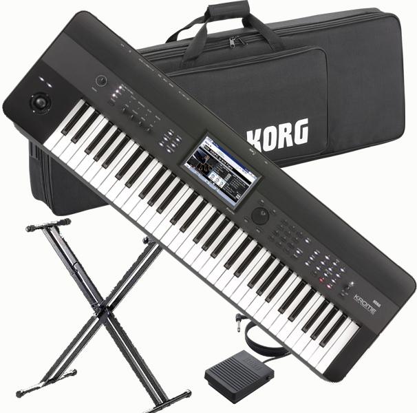KORG KROME 61key 【KROME-61】【純正ソフトケース/ペダル/X型スタンドセット】【ケースのみ入荷次第後日発送】【送料無料】
