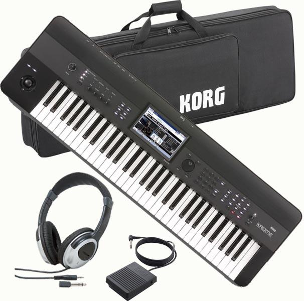 KORG KROME 61key 【KROME-61】【純正ソフトケース/ペダル/ヘッドホンセット】【ケースのみ入荷次第後日発送】【送料無料】