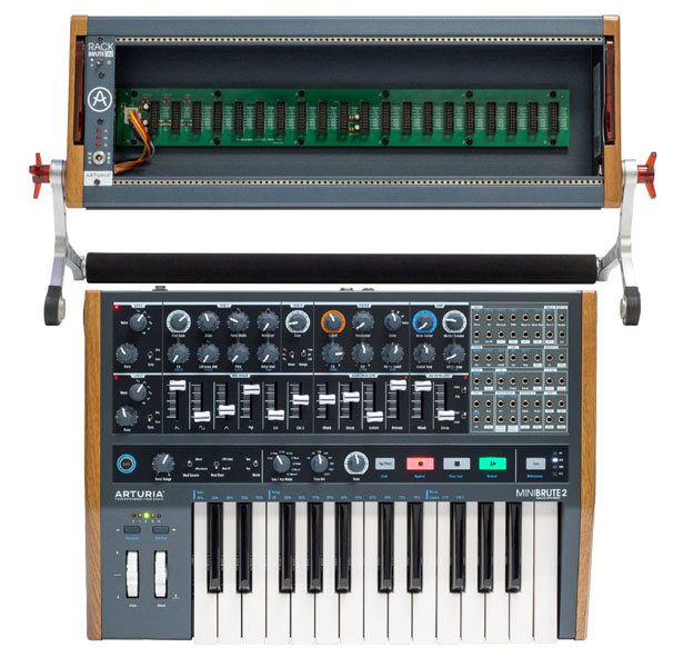 ARTURIAMiniBrute2 + RackBrute 3U セット【キーボード搭載シンセ/3U ユーロラックモジュール セット】【アートリア】【ミニ・ブルート2】【Hardware Synthesizers】【送料無料】