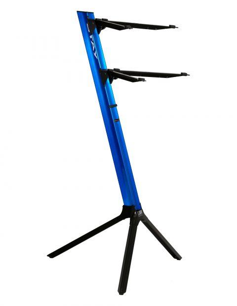 正規代理店 STAY(ステイ)1100/2 S BL C290 Keyboard Stand【Blue/ブルーカラー】【アームバーが内側にカーブ・角度付きのタイプ】 【~61鍵盤用 キーボード・スタンド/2段】【1100/02 Slim】【送料無料】, 北茨城市 336a2d52
