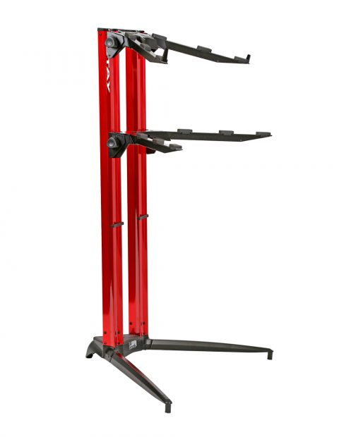 STAY(ステイ)1200/2 P RD Keyboard Stand【Red/レッドカラー】 【~88鍵盤用 キーボード・スタンド/2段】【1200/02 Piano】【送料無料】