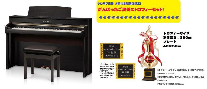 【高低自在椅子&ヘッドフォン付属】KAWAI CA98R【プレミアムローズウッド調】【がんばったご褒美にトロフィーセット!】【河合楽器・カワイ】【電子ピアノ・デジタルピアノ】【送料無料】