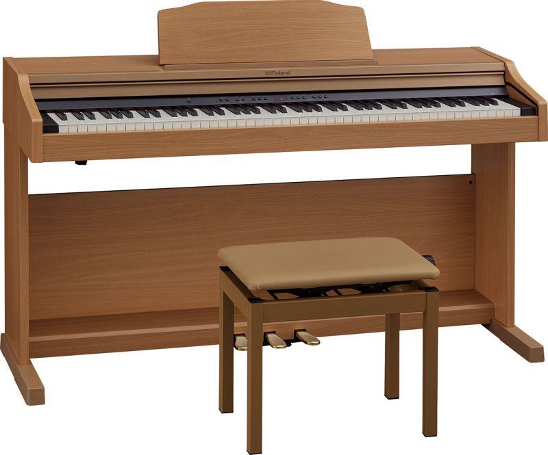 【高低自在椅子&ヘッドフォン付属】Roland ローランド RP501R-NBS【ナチュラルビーチ調】【8月以降入荷予定!】【電子ピアノ・デジタルピアノ】【送料無料】