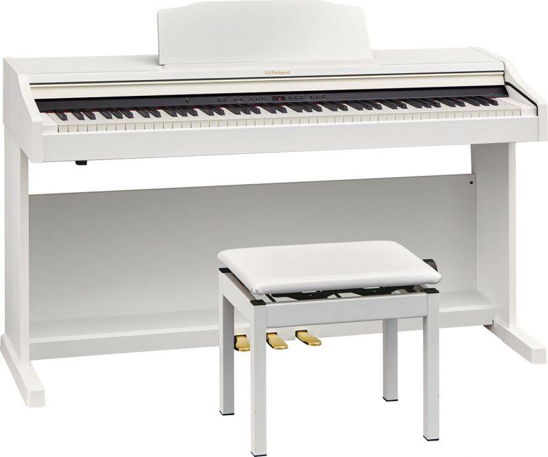 【高低自在椅子&ヘッドフォン付属】Roland ローランド RP501R-WHS【ホワイト調】【8月以降入荷予定!】【お得なメトロノームセット】【電子ピアノ・デジタルピアノ】【送料無料】