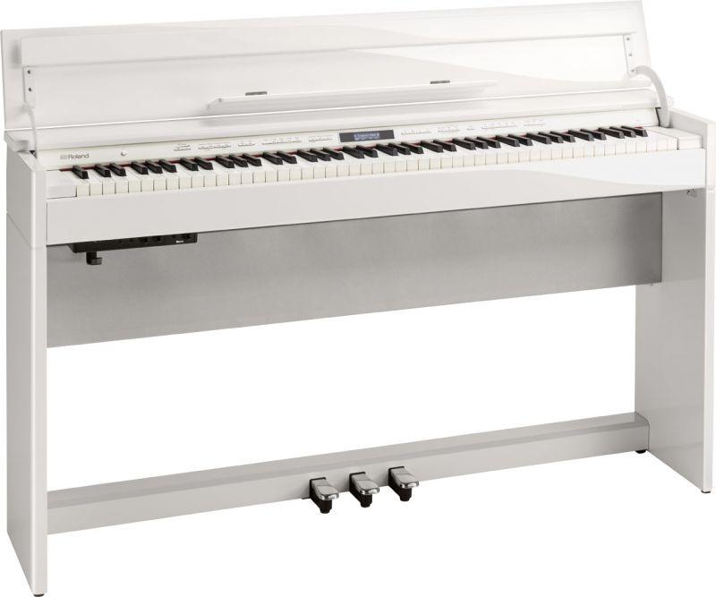 【高低自在椅子&ヘッドフォン付属】Roland ローランド DP603-PWS【白塗鏡面艶出し塗装仕上げ】【電子ピアノ・デジタルピアノ】【送料無料】