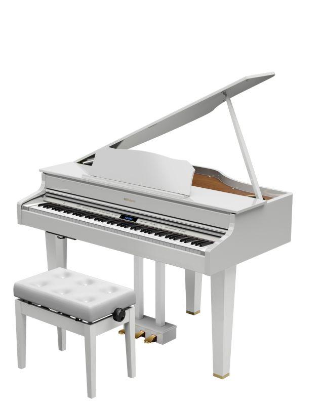 【高低自在椅子&ヘッドフォン付属】Roland GP607-PWS【配送設置料無料】【ローランド】【電子ピアノ】【デジタル・ミニ・グランドピアノ】
