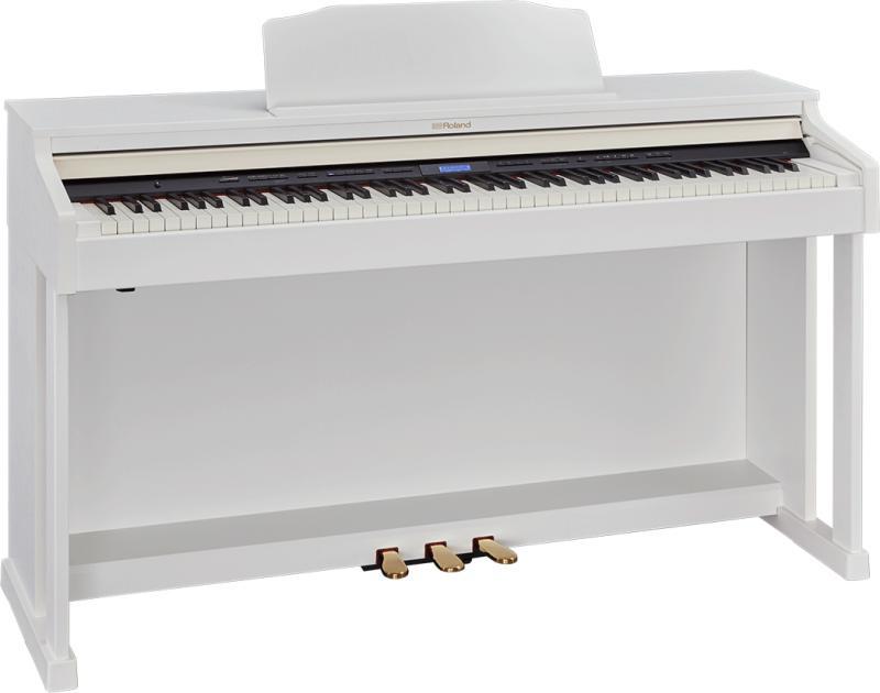 【高低自在椅子&ヘッドフォン付属】Roland ローランド HP601-WHS【ホワイト】【電子ピアノ・デジタルピアノ】【送料無料】